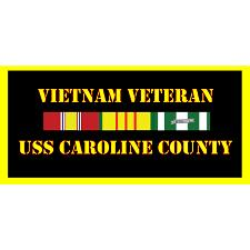 USS Caroline County Vietnam Veteran License Plate