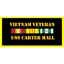 USS Carter Hill Vietnam Veteran License Plate