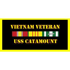 USS Catamount Vietnam Veteran License Plate