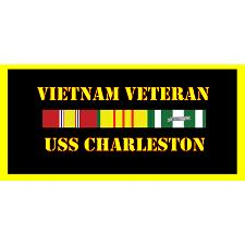 USS Charleston Vietnam Veteran License Plate