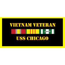 USS Chicago Vietnam Veteran License Plate