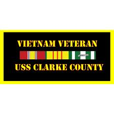 USS Clark County Vietnam Veteran License Plate