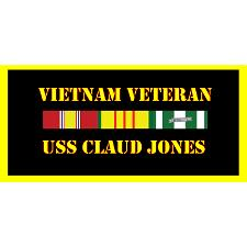 USS Claude Jones Vietnam Veteran License Plate