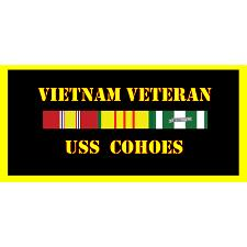 USS Cohoes Vietnam Veteran License Plate