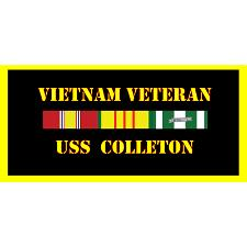 USS Colleton Vietnam Veteran License Plate