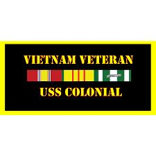 USS colonial Vietnam Veteran License Plate