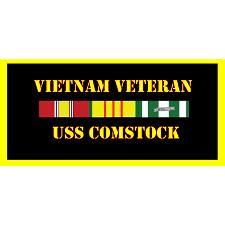USS Comstock Vietnam Veteran License Plate