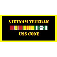 USS Cone Vietnam Veteran License Plate