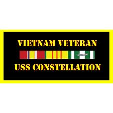 USS Consellation Vietnam Veteran License Plate