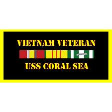 USS Coral Sea Vietnam Veteran License Plate