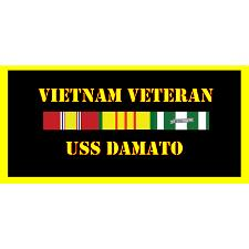 USS Damato Vietnam Veteran License Plate