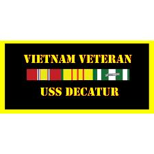 USS Decatur Vietnam Veteran License Plate