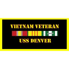 USS Denver Vietnam Veteran License Plate