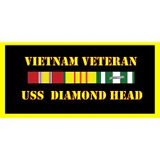 USS Diamond Head Vietnam Veteran License Plate