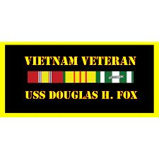 USS Douglas H Fox Vietnam Veteran License Plate