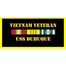 USS Dubuque Vietnam Veteran License Plate