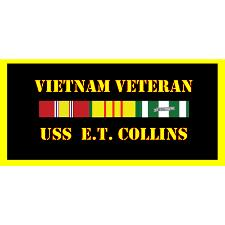USS E T Collins Vietnam Veteran License Plate