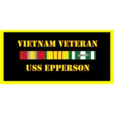 USS Epperson Vietnam Veteran License Plate