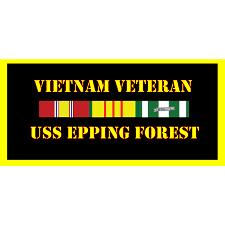USS Epping Forest Vietnam Veteran License Plate