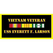 USS Everett F Larson Vietnam Veteran License Plate