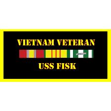 USS Fisk Vietnam Veteran License Plate