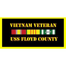 USS Flyod County Vietnam Veteran License Plate