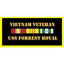 USS Forrest Royal Vietnam Veteran License Plate