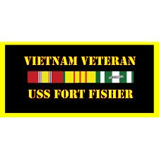 USS Fort Fisher Vietnam Veteran License Plate