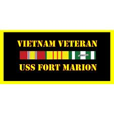 USS Fort Marion Vietnam Veteran License Plate