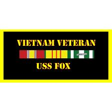 USS Fox Vietnam Veteran License Plate