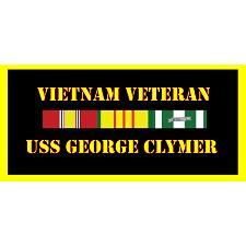 USS George Clymer Vietnam Veteran License Plate