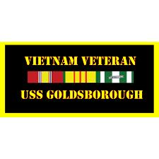 USS Goldsborough Vietnam Veteran License Plate