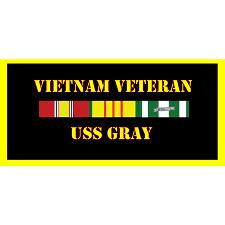 USS Gray Vietnam Veteran License Plate