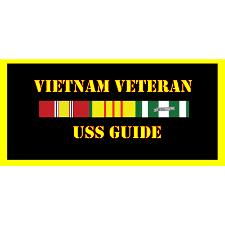 USS Guide Vietnam Veteran License Plate