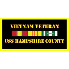 USS Hampshire County Vietnam Veteran License Plate