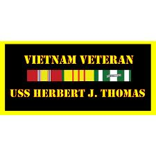 USS Herbert J Thomas Vietnam Veteran License Plate