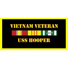USS Hooper Vietnam Veteran License Plate
