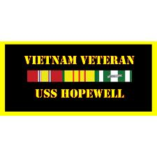 USS Hopewell Vietnam Veteran License Plate