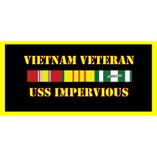 USS Imprevious Vietnam Veteran License Plate