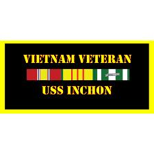 USS Inchon Vietnam Veteran License Plate