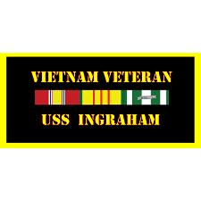 USS ingram Vietnam Veteran License Plate