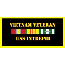 USS Intrepid Vietnam Veteran License Plate
