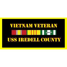 USS Irdell County Vietnam Veteran License Plate