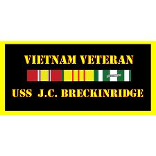 USS J C Breckinridge Vietnam Veteran License Plate