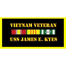 USS James E Keys Vietnam Veteran License Plate