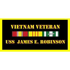 USS James E Robinson Vietnam Veteran License Plate