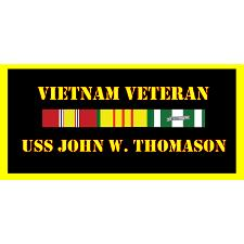 USS John W Thomason Vietnam Veteran License Plate