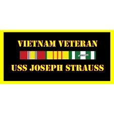 USS Joseph Strauss Vietnam Veteran License Plate