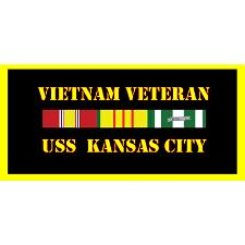 USS kansas City Vietnam Veteran License Plate