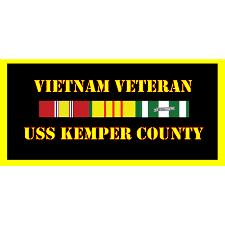 USS Kemper County Vietnam Veteran License Plate